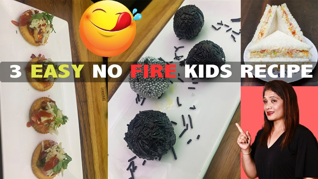 3 EASY NO FIRE KIDS RECIPE l Fireless Cooking l Cook With Asha