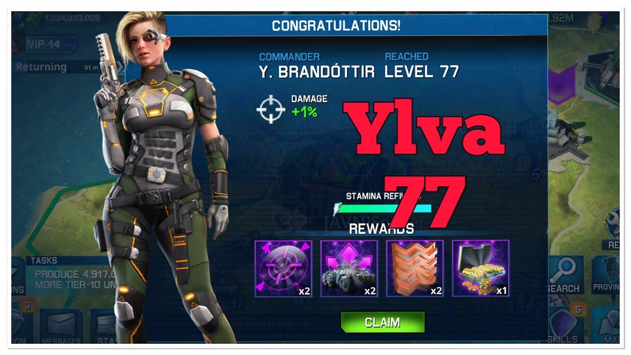 War Planet Online : Push Ylva level 77 in live !!!