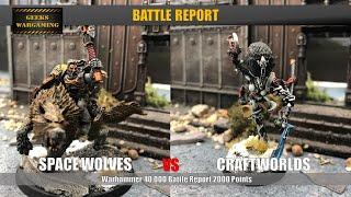 Space Wolves vs Craftworld Warhammer 40k Battle Report 2000 Points
