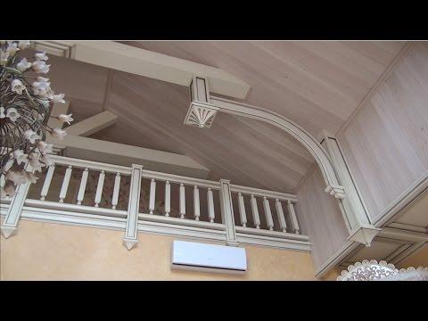 Деревянный потолок , чем покрыть?