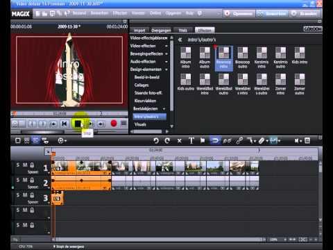 Tutorial: MAGIX Video deluxe 16 - Intro en outro maken (NL)