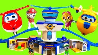 SUPER WINGS World Airport Playset Helps Paw Patrol Fly to Toy Surprise Island -
