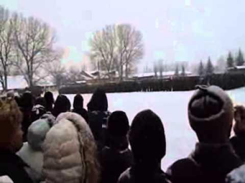 г. Острогожск. Присяга 9 февраля 2014 года в\ч 20115г.
