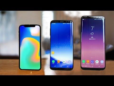 iPhone X vs Samsung Galaxy S8 & S8 Plus
