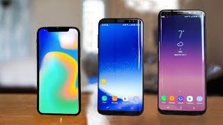 iPhone X vs Samsung Galaxy S8 & S8 Plus
