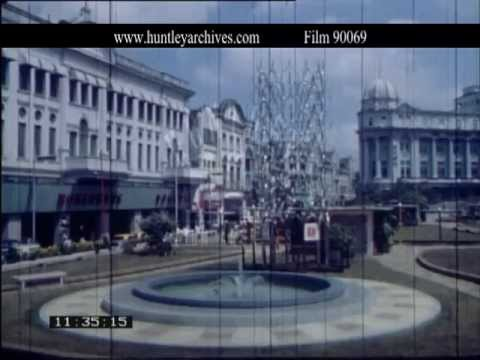 Singapore.  Raffles Hotel and Shopping in March 1968 - Film 90069