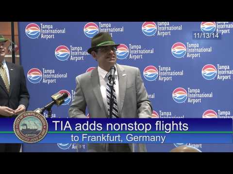 Tampa International Airport announces nonstop flights to Germany