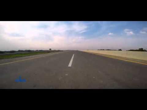 Motorway Pakistan M4-Extension (Khanewal-Multan). Great arial veiw.