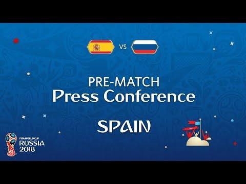 2018 FIFA World Cup Russia™ - ESP vs RUS - Spain Pre-Match Press Conference
