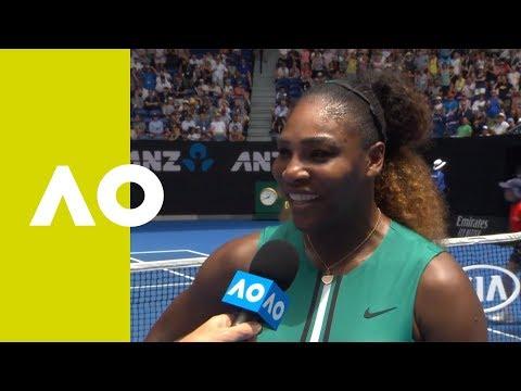 Serena Williams on-court  1R  Australian Open 2019