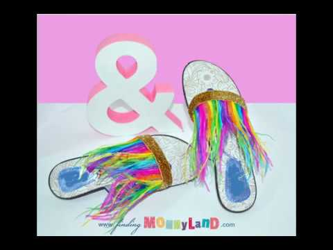 ec4b97a4b Upcycle your Flip-flops into unicorn-neon-rainbows. Finding Mommyland