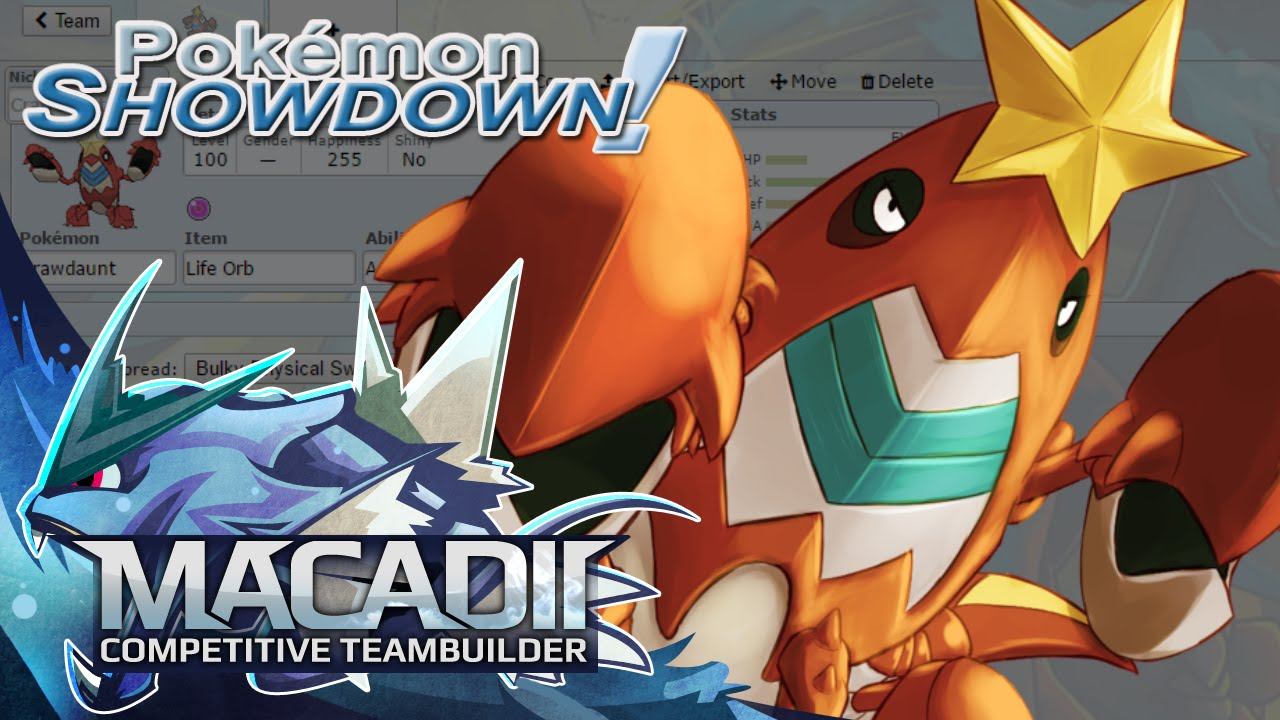 Crawdaunt Team Builder Pokemon Showdown Uu Team Building W