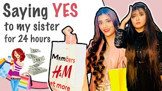 "I SAY ""YES"" TO MY LITTLE SISTER FOR 24 *HOURS* Challenge Ft. Samreen Ali 