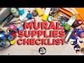 My MURAL SUPPLIES Checklist!