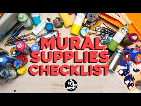 My MURAL SUPPLIES Checklist!