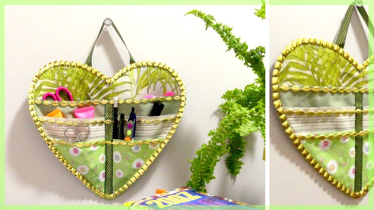 DIY ORGANIZER: How to Make a Fabric Wall Hanging Organizer - YouTube