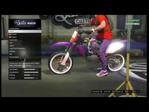 Gta Xbox One Custom Dirt Bike Youtube