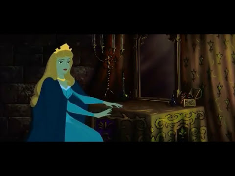 Sleeping beauty spindle scene