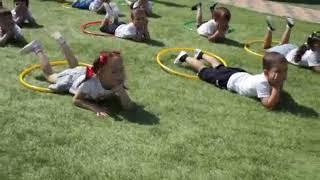 Школа здоровья Дачное для маленьких крымчан Утреняя гимнастика