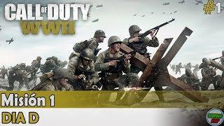 Call of Duty World War 2 | Mision 1 | Dia D | Campaña en Español Gameplay Sin Comentarios