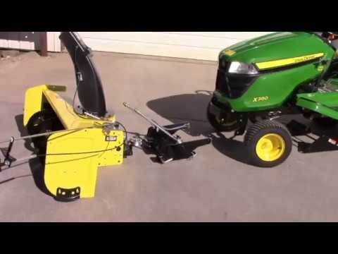 SNOW BLOWER INSTALL On JOHN DEERE X300 X500 SERIES 2016