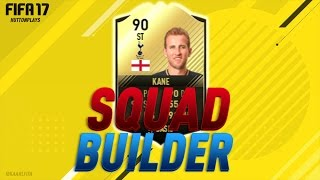 fifa 17 squad builder most clinical premier league striker w 4if kane 90 rated kane