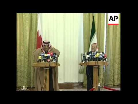 Iranian FM Mottaki meets Bahrain FM, comment on US and Iraq