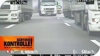 Unsitte der LKW Fahrer: Elefantenrennen auf der Autobahn! | Achtung Kontrolle | kabel eins