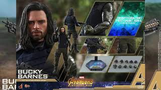 Avengers Infinity War Hot Toys Bucky Barnes 1 6 Scale Movie Figure Reveal