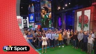 Laura Wright sings Jerusalem with a little help from the guys  | Rugby Tonight