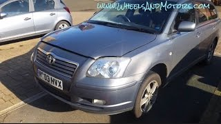 How to replace starter motor - Toyota Avensis 1.6 T250