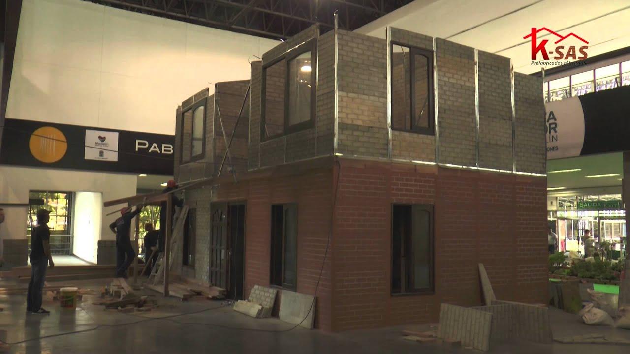 Constructora ksas montaje casa 100mt2 dos niveles doovi for Constructora casa