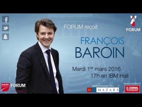 Conférence FORUM avec François Baroin