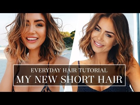 HAIR TUTORIAL - HOW I DO MY HAIR EVERYDAY - LONG BOB HAIR STYLE TUTORIAL | Pia Muehlenbeck