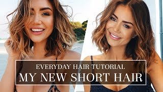 HAIR TUTORIAL - HOW I DO MY HAIR EVERYDAY - LONG BOB HAIR STYLE TUTORIAL | Pia Muehlenbeck