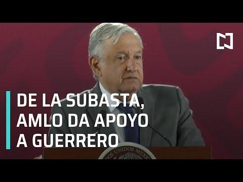 Entrega AMLO apoyo a Guerrero tras subasta de bienes inmuebles incautados