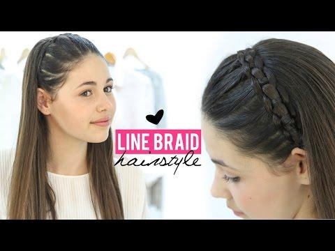 Line braid hairstyle tutorial | Step by step
