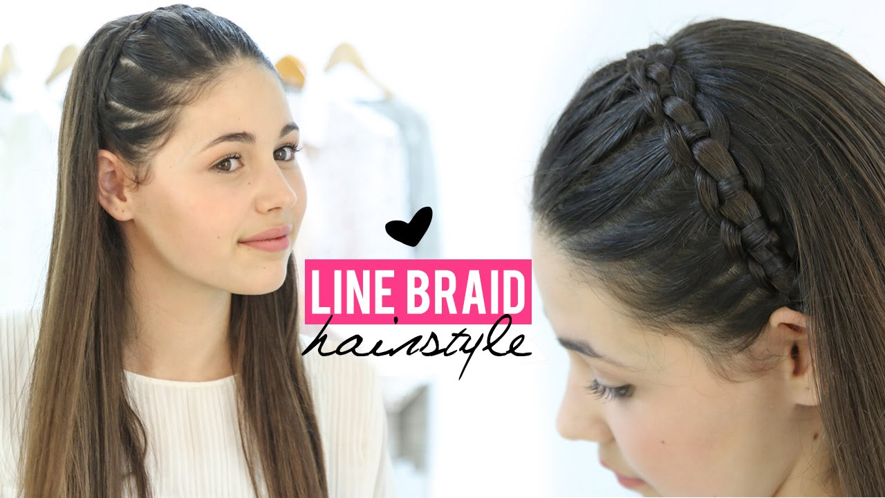 line braid hairstyle tutorial | step by step - youtube
