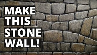 How to Make A Realistic Stone Wall Out of XPS Foam (Ep. 186)