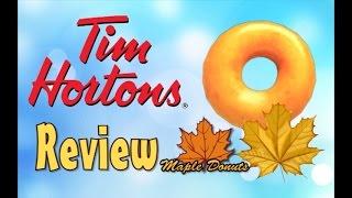 ♥tim Horton Canadian Maple Donut Review♥-september 28th 2015