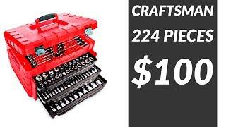 Deal Alert! 224 Piece Craftsman Tool Set for $100