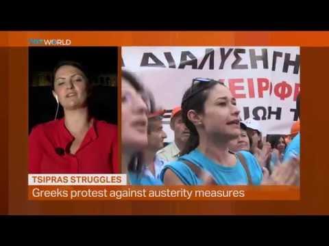 Money Talks: Struggles of Tsipras, interview with Charlotte Dubenskij