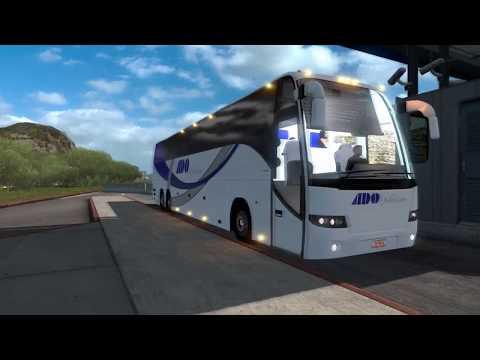 ATS   Volvo 9700 TX   Durango   Puente Baluarte y Skin ADO   Mexico Extremo