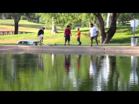 Fishing At The Simi Valley Golf Course. HD 720p ©2013JenniferRoseCotts