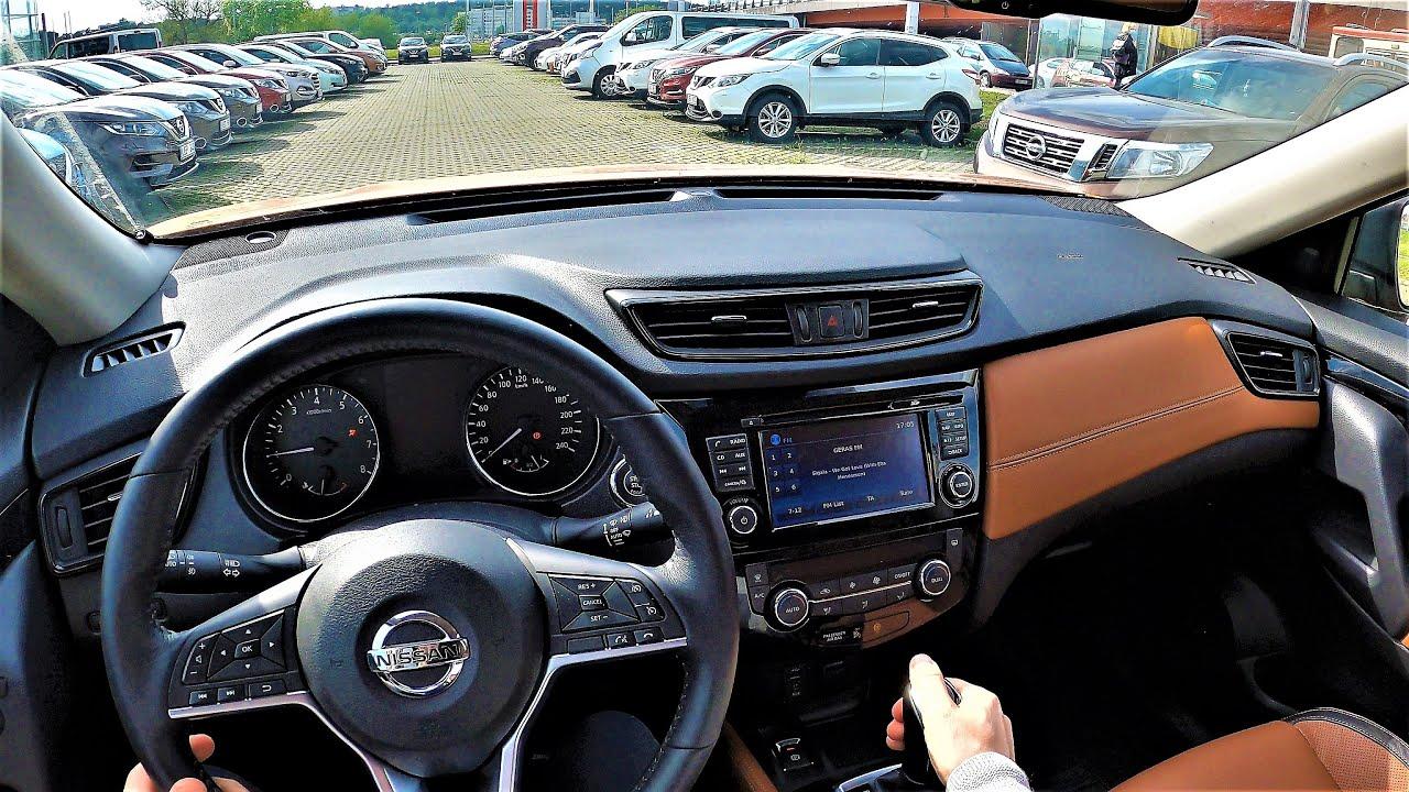 City test drive Nissan X-Trail Tekna. Test drive with GoPro. Nissan X-Trail Tekna pov drive.