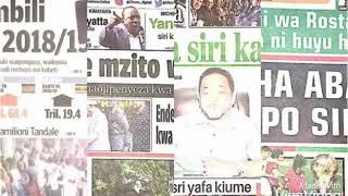 MAGAZETI; Habari kubwa katika magazeti ya leo June 16, 2018.