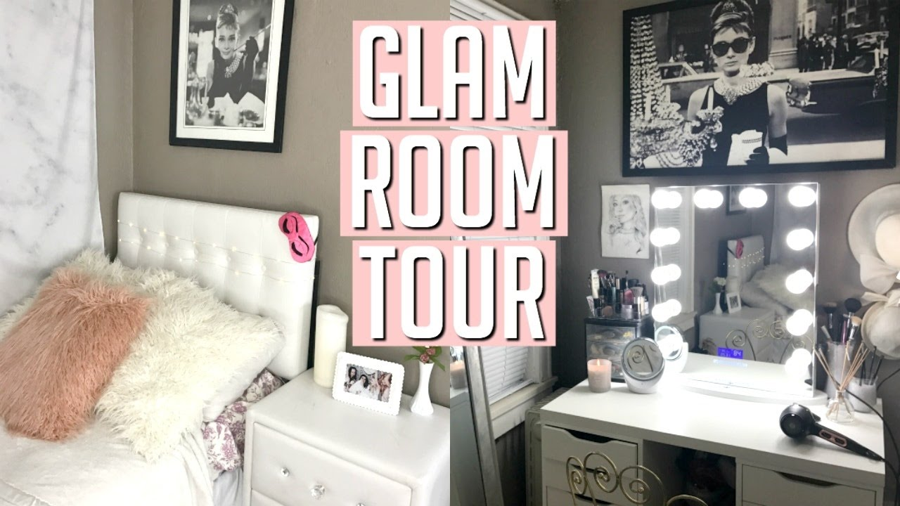 MY VINTAGE INSPIRED GLAM ROOM TOUR! 2017 - YouTube