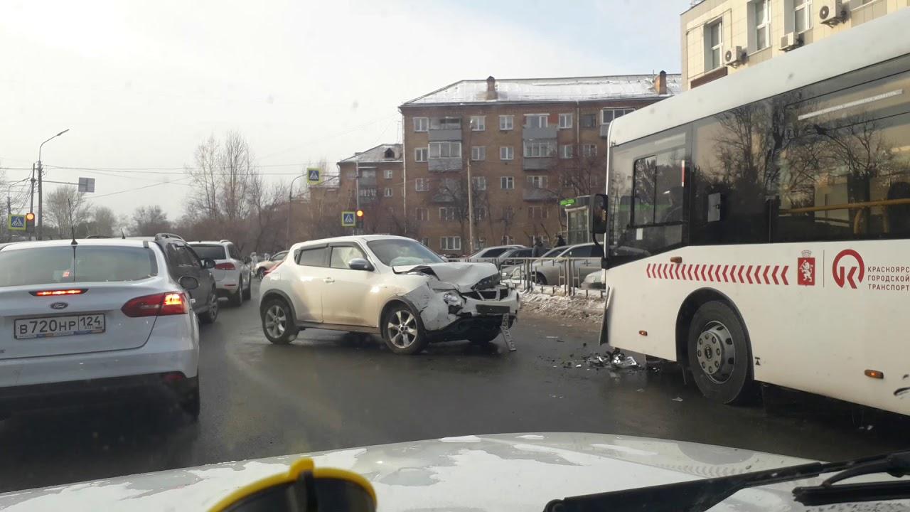 Авария на ул. Академика Киренского. Красноярск.