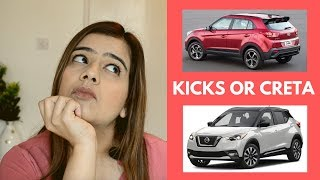 Nissan Kicks vs Creta (2019) | Kicks Or Creta Comparison India