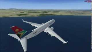 FSX BOEING 737 SOUTH AFRICAN PRETORIA AIRPORT TAKE OFF AT PORT ELIZABETH AIRPORT AND ...